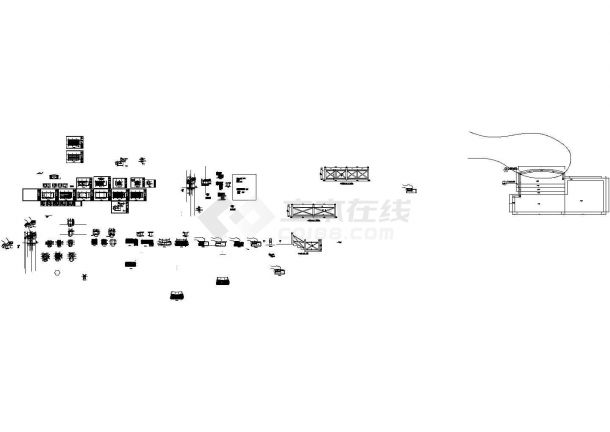 某单层木屋设计cad全套结构施工图(含建筑设计)-图一