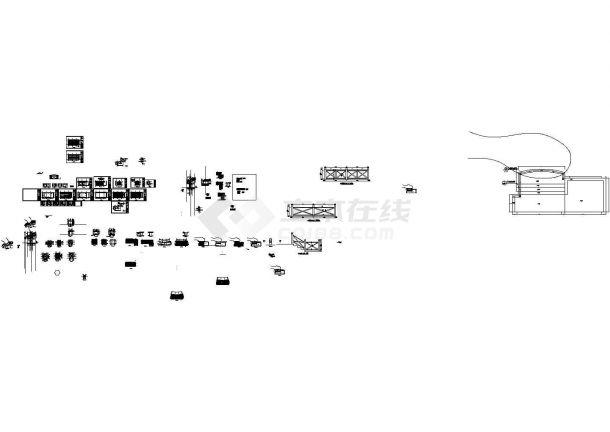 某单层木屋设计cad全套结构施工图(含建筑设计)-图二