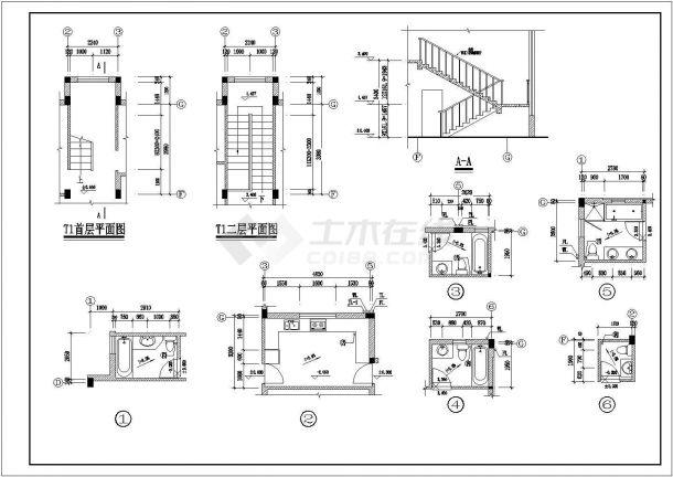某地区欧洲风格独栋别墅方案设计施工CAD图纸(含效果图)-图二