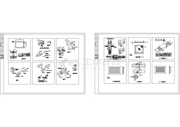 全套风管_风口_管件_阀门暖通安装节点CAD施工图(甲级院设计,种类齐全)-图一