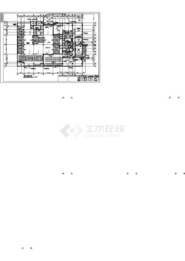 邮电设备工程局总部大楼总图-图二