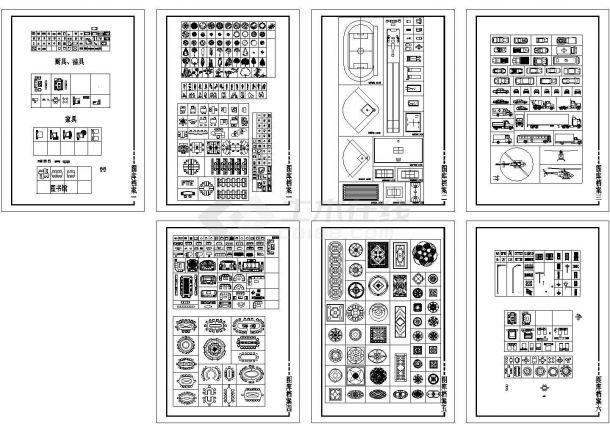 某样板房现代风格装修设计cad全套施工图(甲级院设计)-图二