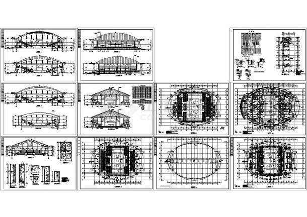 三层酒店综合楼规划设计建筑施工cad图纸,共十一张-图一
