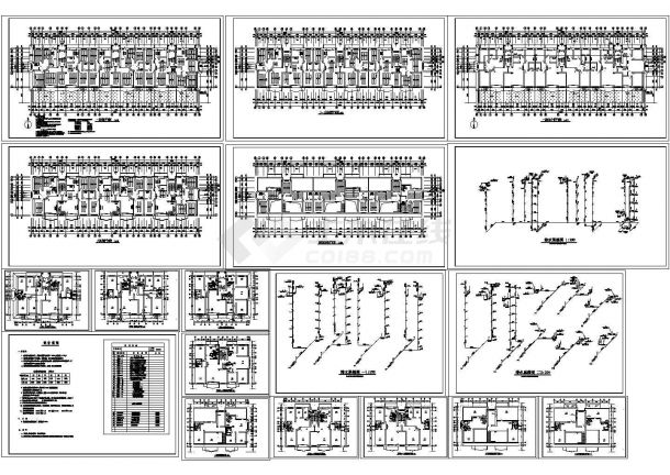 某建筑住宅采暖给排水施工图-图一