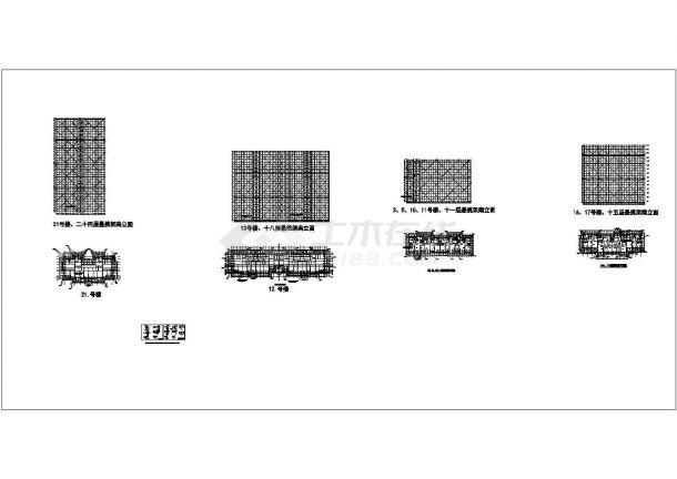 徐州商业住宅楼悬挑脚手架施工方案cad非常标准图纸-图一