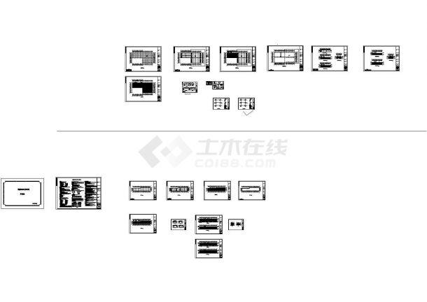 鹏程石材公司钢结构工程CAD设计图纸-图一