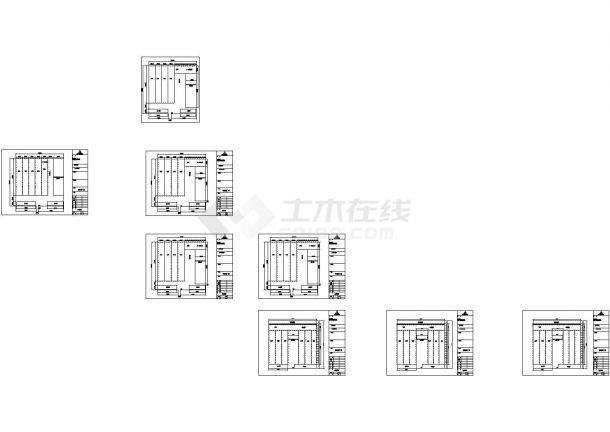 某公司新钢结构工程CAD设计图-图二