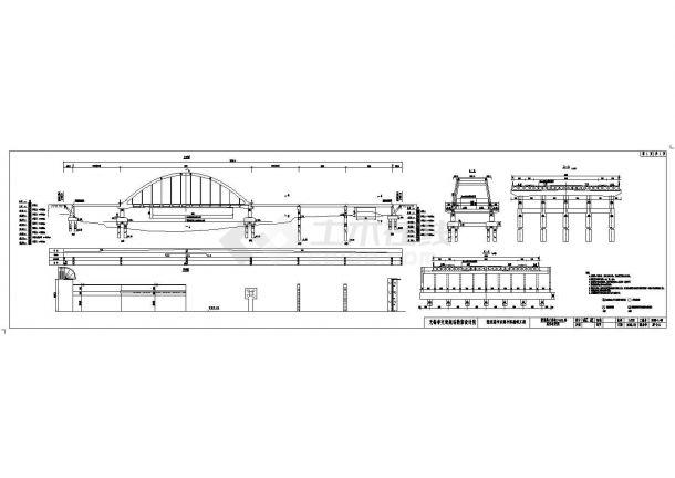 张家港大桥全套施工cad图,共四张-图一