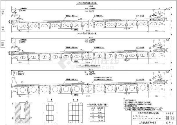 装配式预应力混凝土空心板设计cad图,共二十五张-图一
