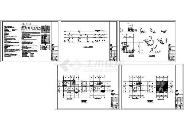 379.92㎡三层新农村独栋别墅建筑设计施工图(含全套CAD图纸)-图一