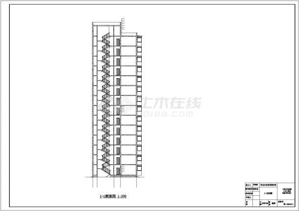 6309平米某14层阳光小区住宅楼设计cad图(含计算书,毕业设计)-图一