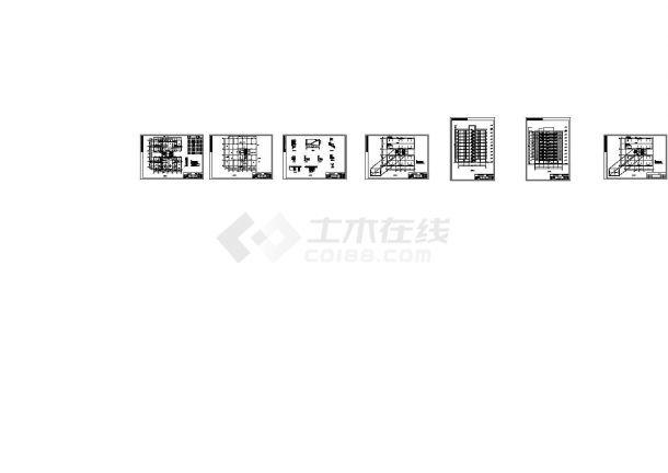 十层框剪方型住宅楼设计cad图(含计算书,毕业设计)-图二