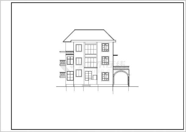310平米3层框混结构单体别墅全套平立剖面设计CAD图纸(含效果图)-图一