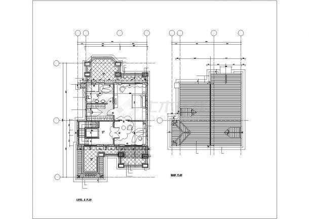 徐州市某村镇350平米左右3层砖混结构单体别墅建筑设计CAD图纸-图一