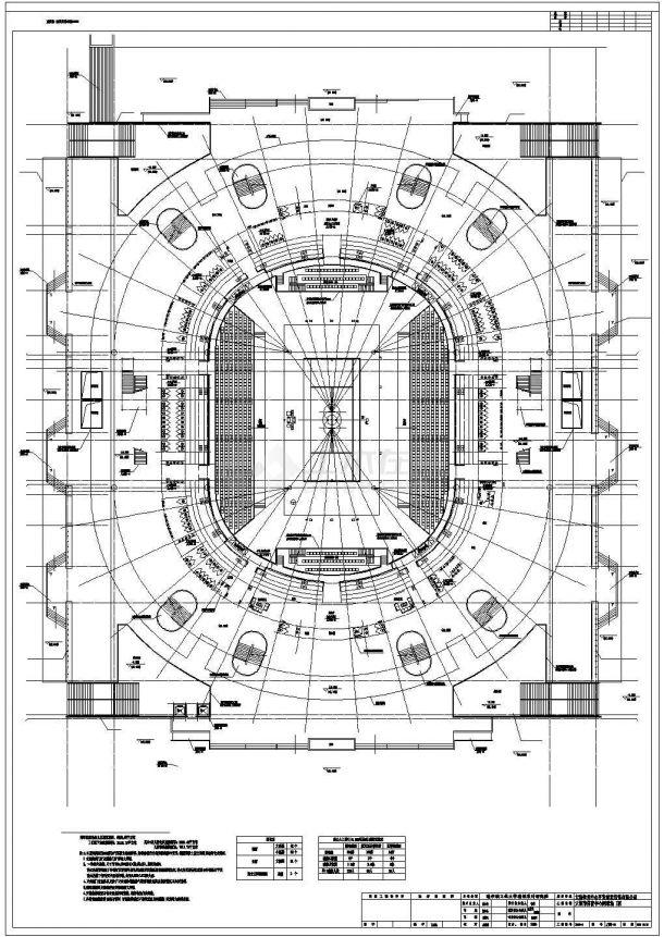 [大连]某市级框架结构特级网球场建筑全套施工图-图一