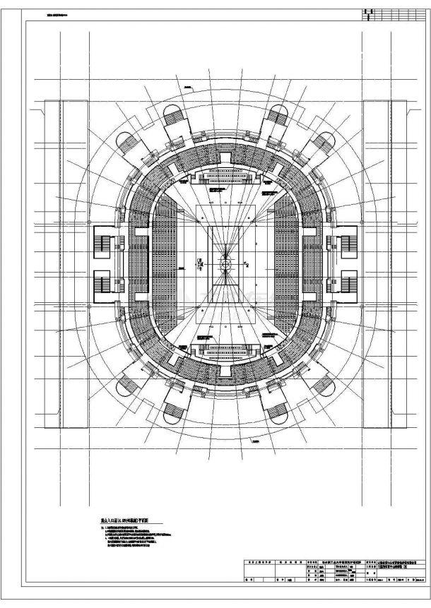 [大连]某市级框架结构特级网球场建筑全套施工图-图二