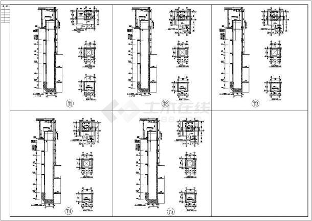 经典电梯装修cad平面大样施工图(含5套电梯设计)-图一