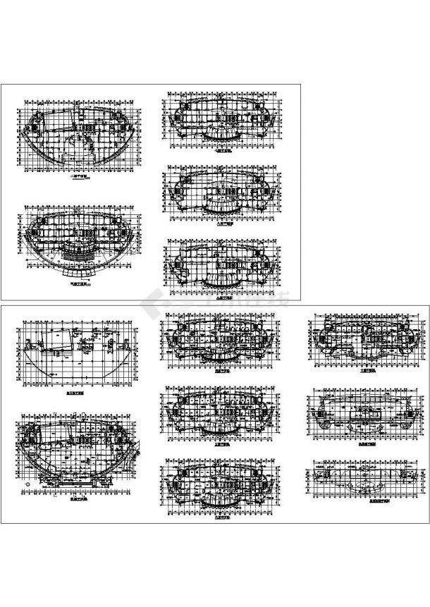 11层人民医院综合楼建筑设计施工cad图纸(含地下一层,共十三张)-图二