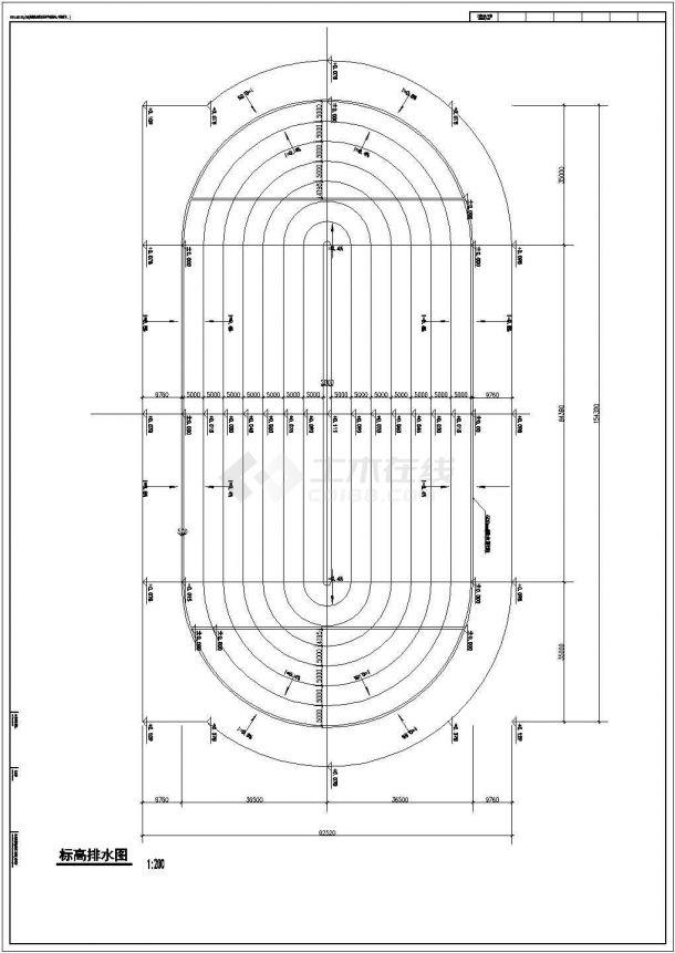 [合肥]某学院400米标准塑胶运动场建筑全套施工图(含总平面图)-图二