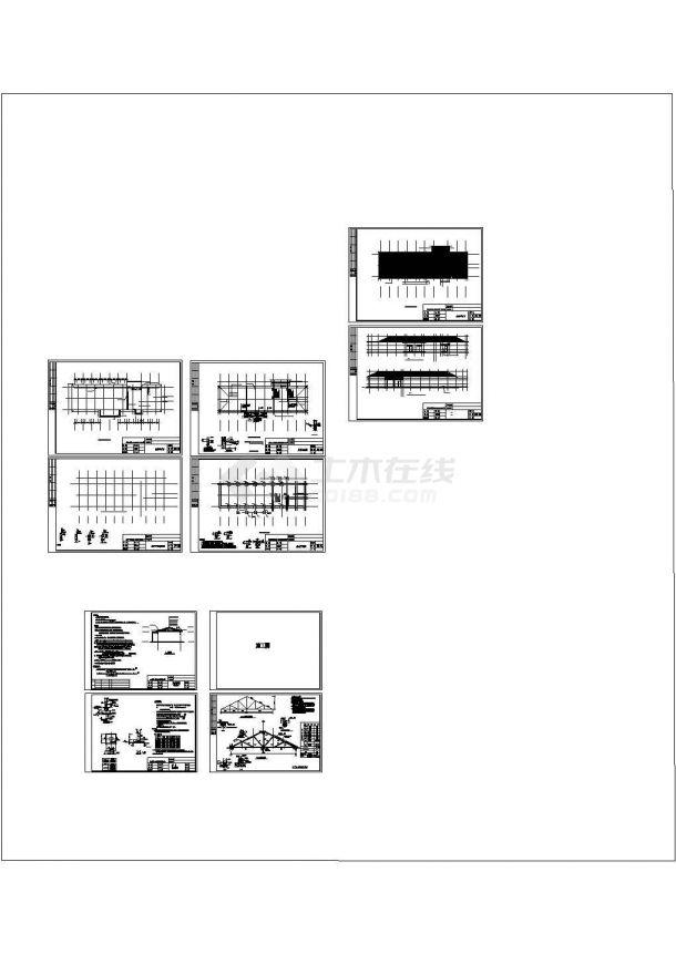 木屋架学校餐厅建筑结构施工图-图一