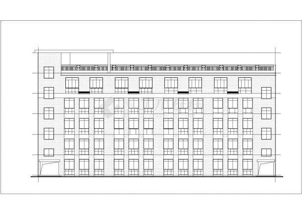 南京市某实验小学1800平米五层框架结构教学楼建筑设计CAD图纸-图二