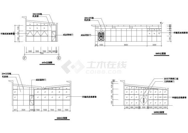成都市天府景观广场绿化平面设计CAD施工图(含内部小品设计图)-图二
