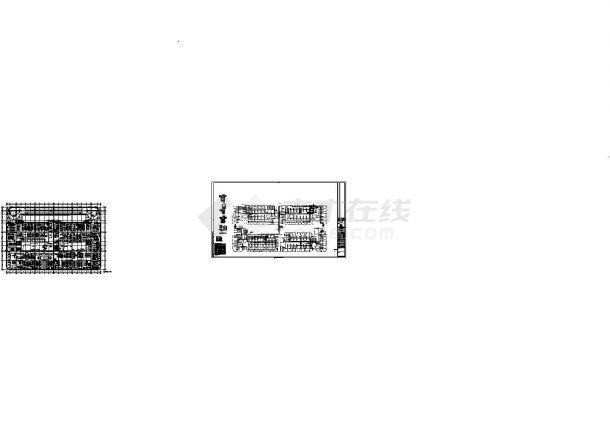 同济科技园A2楼三层弱电平面设计cad图纸-图一