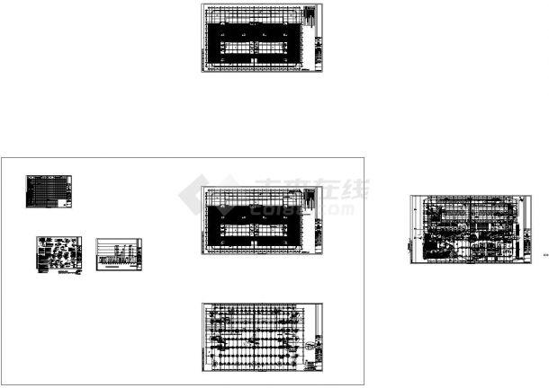 同济科技园A楼防雷接地系统设计cad图纸-图一