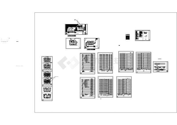 福建高层住宅小区给排水消防系统设计施工cad图纸-图一