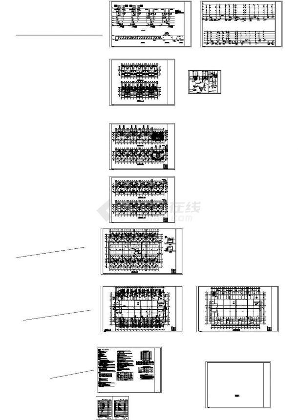 浙江多层住宅小区给排水系统设计施工cad图纸-图一