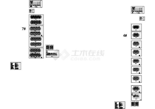 浙江多层住宅小区给排水系统设计施工cad图纸-图二