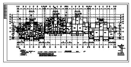六层钢筋混凝土框架结构住宅楼结构设计cad图(带跃层设计,共二十六张)-图一
