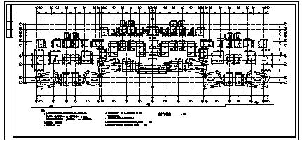 六层钢筋混凝土框架结构住宅楼结构设计cad图(带跃层设计,共二十六张)-图二