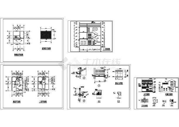 长13米宽10米2+1阁楼层住宅建筑结构CAD施工图-图一