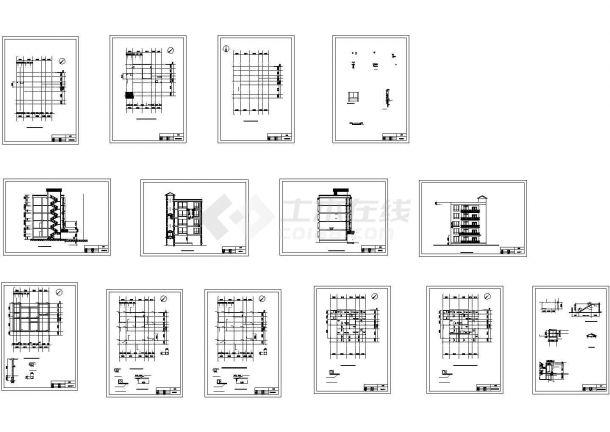 5层农村别墅建筑结构施工图-图一