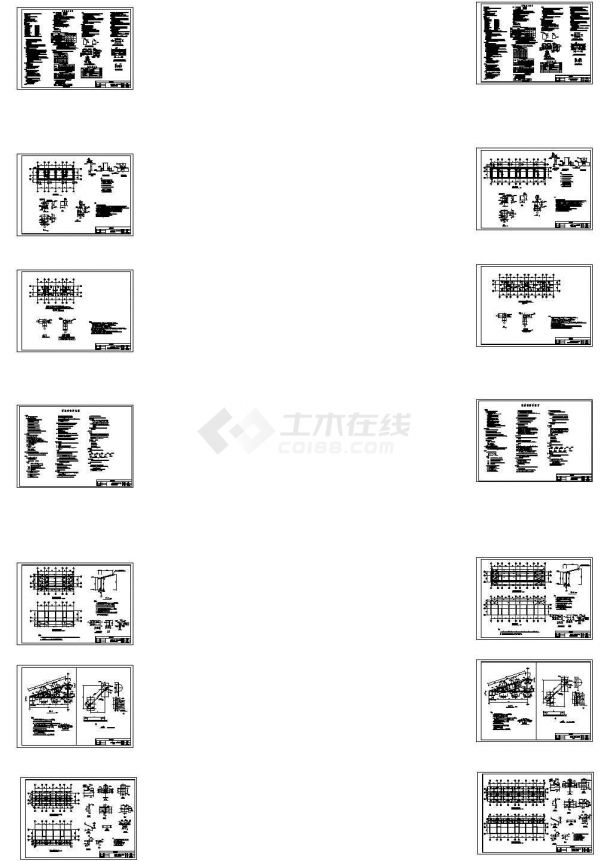 单层砌体结构钢屋架矿区宿舍结构施工图-图二