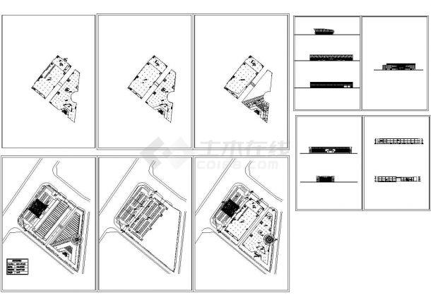 大型商场装修设计CAD图-图一