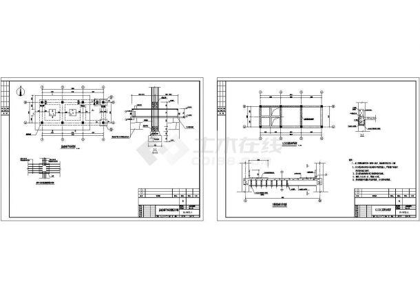 某钢筋混凝土框架加固设计图纸-图一