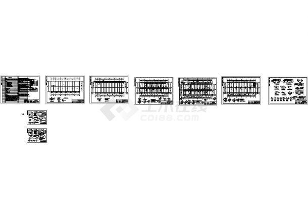 某多层框架综合楼加固改造结构施工图纸-图一