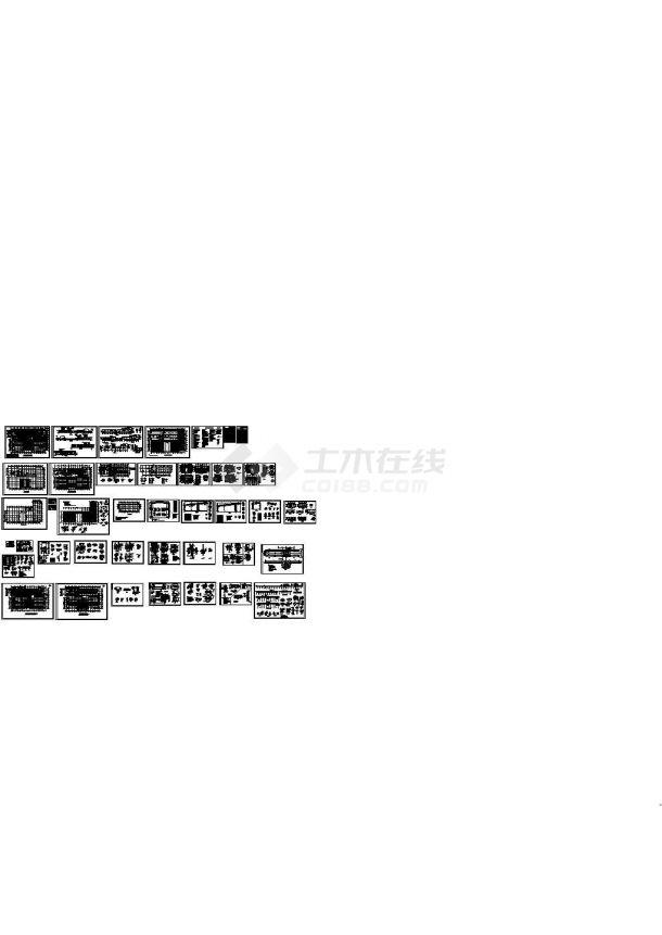 混凝土主车间建筑结构施工图(CAD,34张图纸)-图一