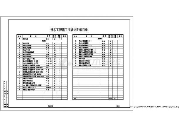 天津南开区某大型市政道路排水工程CAD施工图-图一