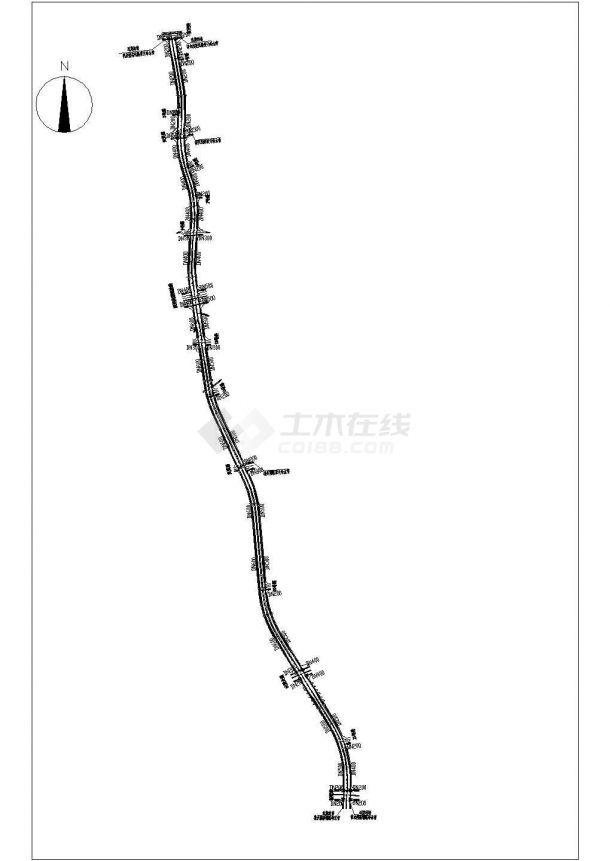 苏州某工业园工业道路给排水工程CAD施工图-图一