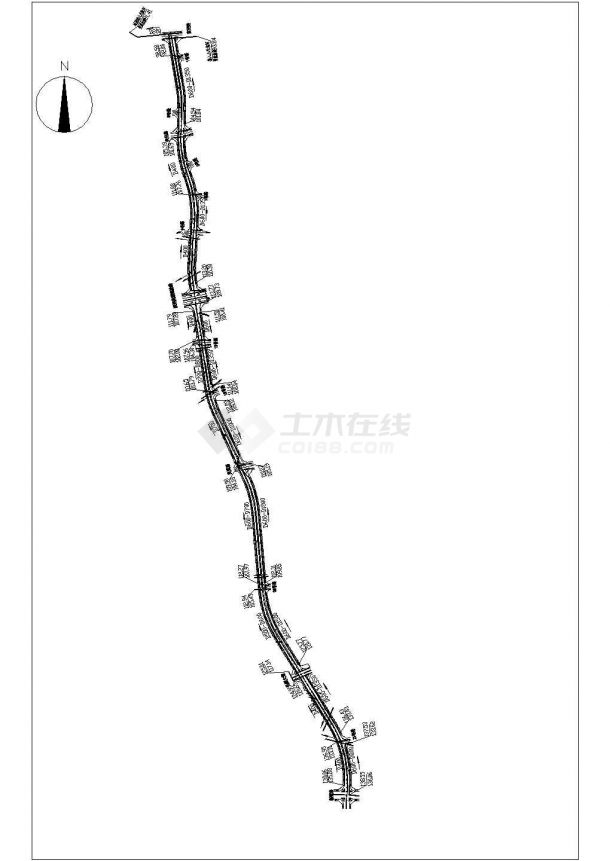 苏州某工业园工业道路给排水工程CAD施工图-图二