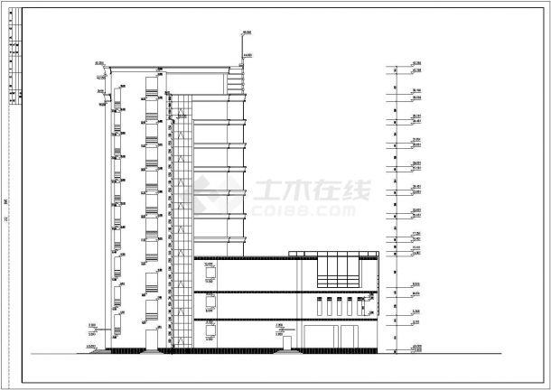 景区高档酒全套店建筑设计cad图纸(含集水坑详图,首层平面图)-图一