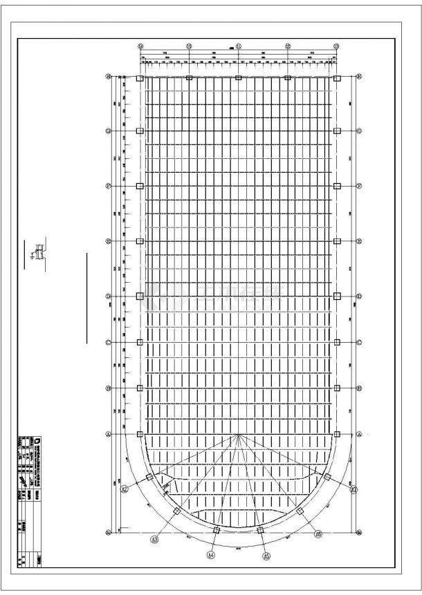 游泳馆钢结构网架结构施工cad图纸设计-图二