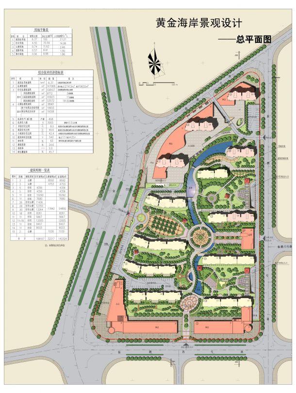 某小区景观设计方案总平面及分析图-图二