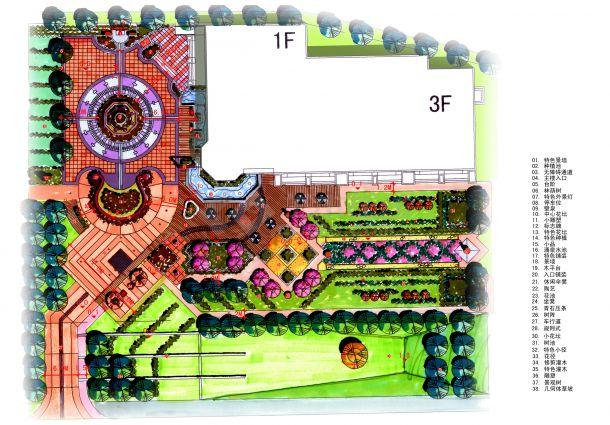 某小区售楼处景观设计图-图二