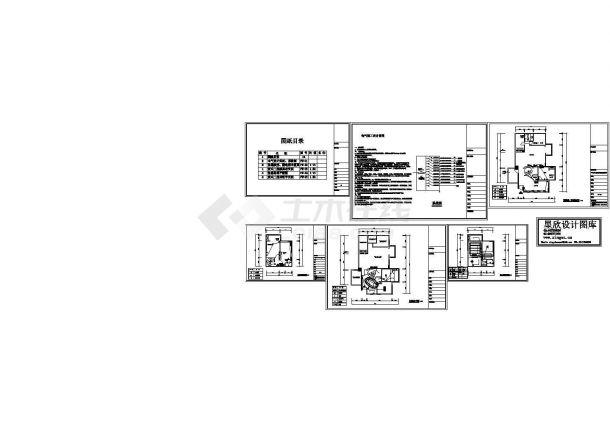办公室电气设计图(CAD,6张图纸)-图一