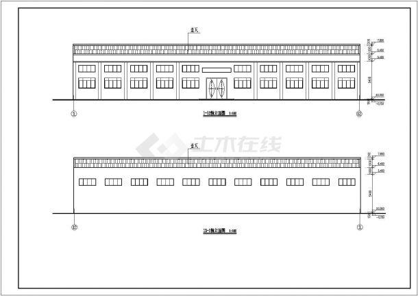 厂房设计_某大型混凝土框架结构综合厂房设计CAD全套建筑施工图纸(含总平面图,含3跨设计)-图一