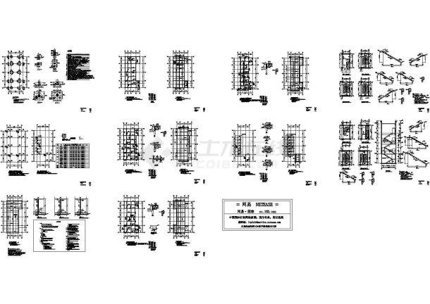配电室结构设计图纸(CAD,13张图纸)-图一